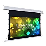 Elite Screens Evanesce Tab-Tension B, 120-inch Diagonal 16:9, 4K / 8K HD Ready, Recessed in-Ceiling Electric Tab Tensioned Projector Screen, Matte White Projection Screen Surface, ETB120HW2-E8