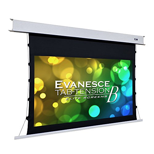 Elite Screens Evanesce Tab-Tension B, 110-inch Diagonal 16:9, 4K / 8K HD Ready, Recessed in-Ceiling Electric Tab Tensioned Projector Screen, Matte White Projection Screen Surface, ETB110HW2-E8