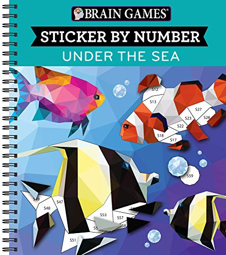 Brain Games - Sticker by Number: Under the Sea (28 Images to Sticker)