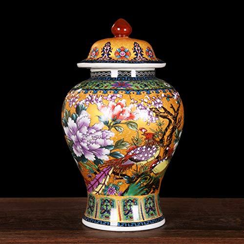 ZNYLX Vase Keramik Cloisonne Emaille Vase Ingwer Gläser Ornament kreatives Geschenk