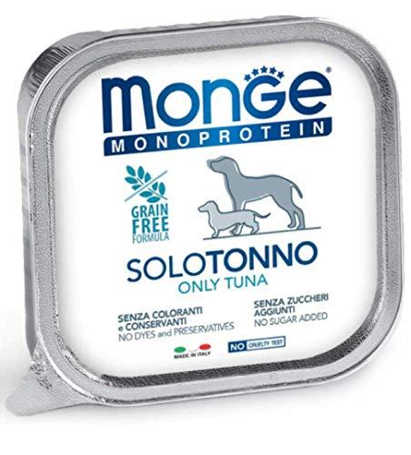 Monge Monoproteico Solo TONNO Alimento Umido per Cani 12x150gr