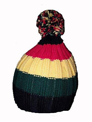 KGM Accessories Bob Marley Bonnet rasta avec pompon