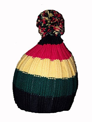 COOL NEUF Rasta Couleur Bonnet Pom Chapeau Bob Marley