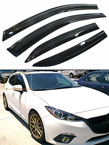 Cuztom Tuning JDM Style Smoked Window Visor Rain//Sun Vent Shade for 2009-2014 Acura TSX