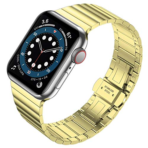 For Apple Watch 6 44mm 40mm Band Series 5 4 Se Strap For Iwatch 3 2 42mm 38mm Bracelet Stainless Steel Business Bands Blue Belt