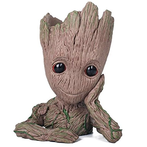 thematys Baby Groot Blumentopf - Innovative Action-Figur für Pflanzen & Stifte aus dem Filmklassiker I AM Groot (A) 14x11x7cm