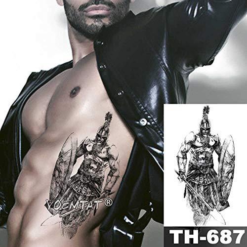 JXAA Skizze Tiger Tattoo Aufkleber Löwe Wolf wasserdicht Tattoo Krieger Krieger Flügel Körper Kunst Arm Tattoo männliche Dame 24-TH687
