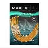 MAXIMUMCATCH geflochtener Schlaufenverbinder 10 Stück pro Packung, Fliegenfischen Loop Connectors, Orange/Klar/Gelb, 30lb/50lb (Orange, 30LB)
