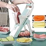 Cortador de verduras y carne, 8 en 1, con 5 cuchillas para picar, trituradora de frutas, pelador de patata, queso y drenaje, rallador de cocina