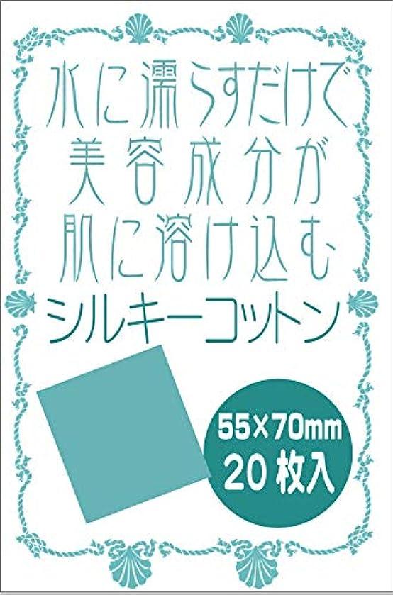 母音ダッシュ背が高い天然シルク100% シルキーコットンパフ 20枚入り セリシン オーガニック 絹パック 水に濡らすだけ