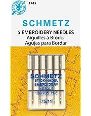 Schmetz Agujas de bordado a máquina 75/11 [Producto de oficina]