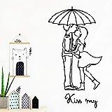 yaonuli Romantic Kiss my Autoadhesivo Papel Tapiz de Vinilo decoración de Sala de Estar Etiqueta de la Pared a Prueba de Agua 42X105cm