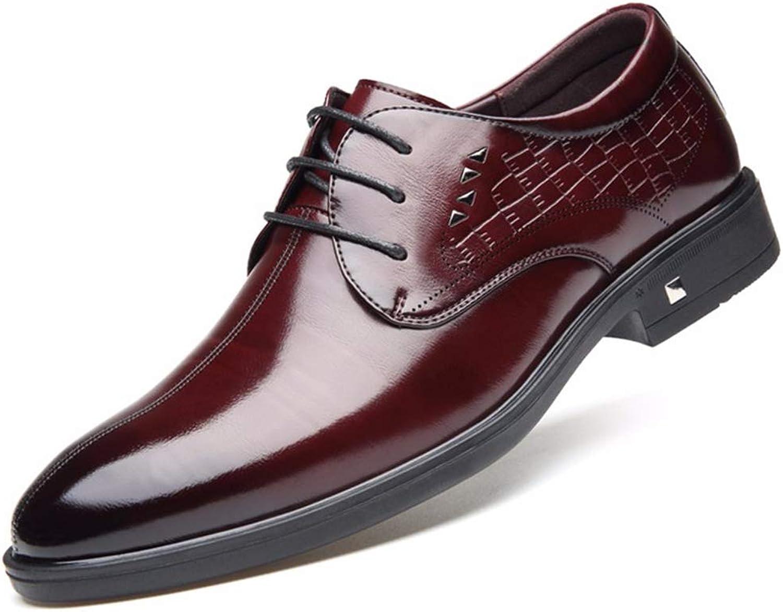 ChengxiO Men's shoes Autumn Men's Business Dress shoes Men's Leather Feet Men's shoes England Wind shoes Men