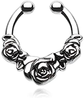 Rose Garden Icon Freedom Fashion Fake Septum Clip-On Ring