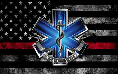 First Responders American Flag EMT Decal (5' X 3')