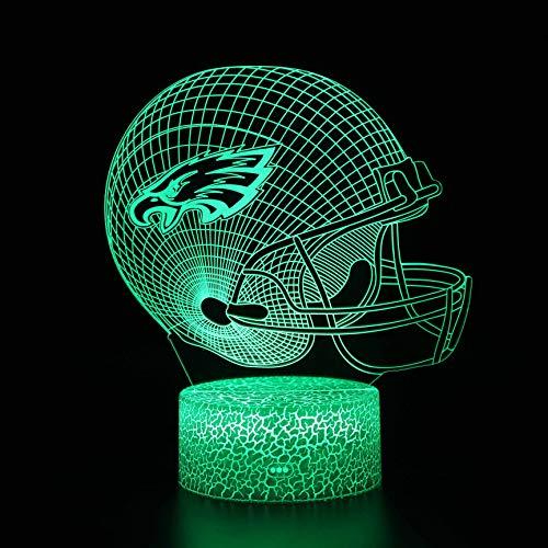 Muts 7 Kleur 3D Nacht Licht, Slaapkamer Bureau Nachtlampje voor Kinderdag Gift