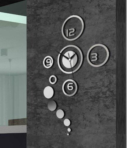 Moderne wandklok design wandtattoo decoratie klokken groot spiegel cadeau