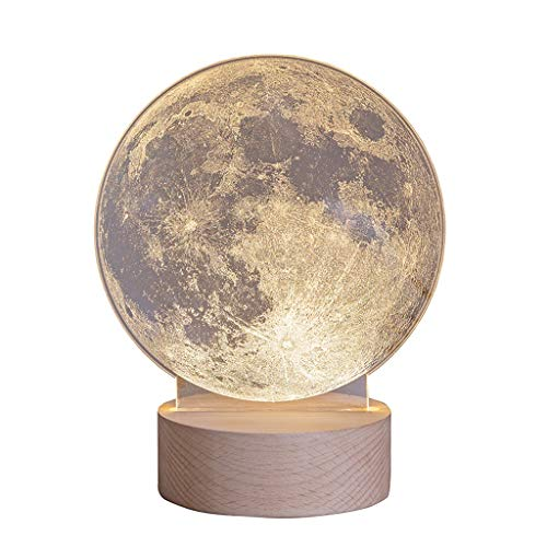 Lámpara de Mesa Regalos USB luna lámpara luz de luna 3D recargable de control táctil LED Lunar Noche ligero de la mujer regalo de la decoración del cuarto de niños for los niños de las mujeres de cump