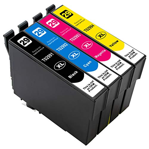 ESMOnline 4 kompatible XL Druckerpatronen (4 Farben) als Ersatz für Epson 29 (T298x und T299x) zu Epson Expression Home XP 455 452 445 442 435 432 355 352 345 342 335 332 257 255 247 245 235