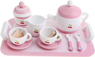 inkl. Kinderküche Frühstückstee Teeservice aus Holz Rollenspiellzeug