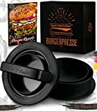 Le Flair® XXL Burgerpresse-Set 4in1 | GROßES Modell | mit E-Book | Burger Pattie Presse für...