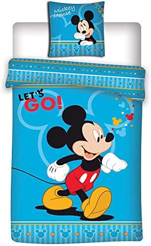 Disney Aymax Mickey Mouse Bed Linen Set 140 x 200 cm + 63 x 63 cm