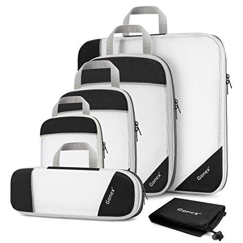 Gonex Sac Organisateur Rangement de Valise Bagage Sac Compression pour Voyage Maquillqage Vêtement