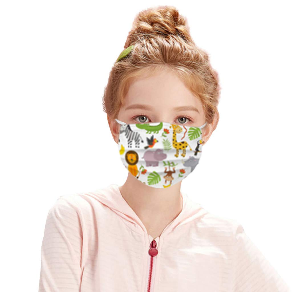 BBZUI Kid's Disposable Face_masks Cartoon Non- Pringting Bargain sale Layer Special sale item 3
