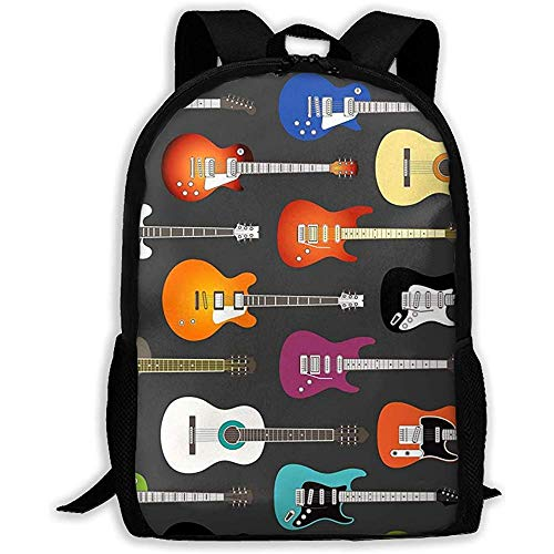 wobuzhidaoshamingzi Mochila Escolar Colorido Guitarras acústicas y eléctricas Mochila Bolsa de Viaje...