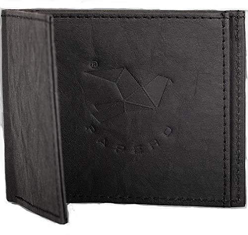 PAPERO ® Kleiner dünner Geldbeutel - Aus Papier- robust, mit Münzfach, Herren Brieftasche,Slim Wallet, Geldbörse, Flaches Portmonee, Vegan, RFID-Schutz