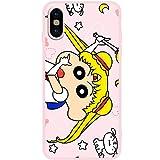 クレヨンしんちゃん 携帯カバー iphoneケース TPU かわいい セーラームーン 面白い (色 : ピンク, サイズ : 6/6s)