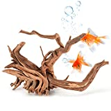 TankDecor 3 Pieces Natural Driftwood for Aquarium Sinkable Reptile Wood Branches – Great for Fish Tank Decoration(6inch-12inch)