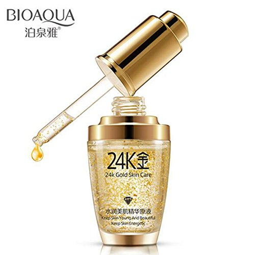24k Pure Gold Foil Essence Serum Face Lift Anti-Aging Anti-redness Whitening Moisturizing Oil Control Face Cream 30ml