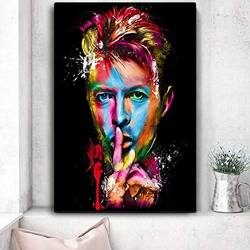 wojinbao Modern canvas wall art Bowie Pop Legendary Music Singer Great Star Posters and Prints Canvas ng Wall Art PictureHome Decor Quadro Cuadros
