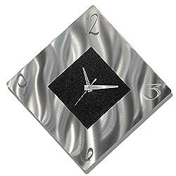 Statements2000 Black Metal Decorative Wall Clock, Abstract Modern Clock for Living Room or Kitchen, Jon Allen Metal Art, Prediction Clock