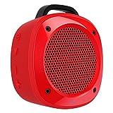 Divoom Air Beat 10 - Altavoz portatil (3.5', Bluetooth 3.0, microfono, Manos Libres), Color Rojo