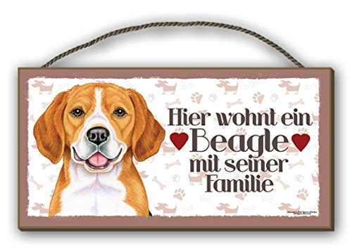 BEAGLE - HOLZSCHILD + KAFFEEBECHER IM SET 03 T3