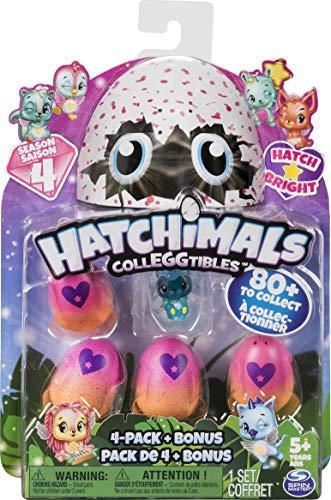 Hatchimals CollEGGtibles 4-Pack + Bonus Season 4 Hatchimals CollEGGtible, Ages 5 & Up (Styles and Colors May Vary)