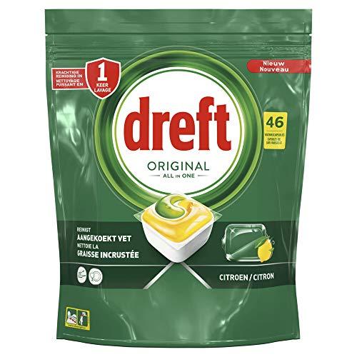 Dreft Original All In One Spülmaschinentabs, Zitrone, 46 Stück