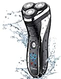 HATTEKER Electric Shaver Rotary Razor Men Cordless Beard Trimmer Pop-trimmer Wet Dry Shaver Waterproof