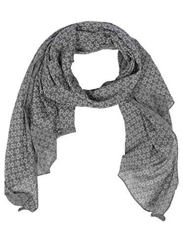 Zwillingsherz Seiden-Tuch Damen stylisches Muster - Made in Italy - Eleganter Sommer-schal für Frauen - Hochwertiges Seidentuch/Seidenschal - Halstuch und Chiffon-Stola Dezent - grau