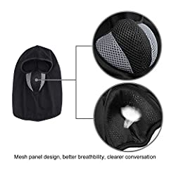 TAGVO Balaclava Face Mask, Breathable Mesh Multipurpose Windproof Motorcycle Cycling Tactical Balaclava Hood Neck Warmer, Fit Helmets for Adults Women and Men Elastic Universal Size #3