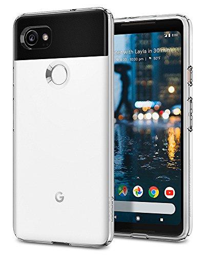 Spigen Google Pixel 2 XL Hülle, [Liquid Crystal] Soft Flex Silikon [Crystal Clear] Transparent Ultra Dünn Schlank Bumper Handyhülle Premium Kratzfest TPU Durchsichtige Schutzhülle F17CS22280