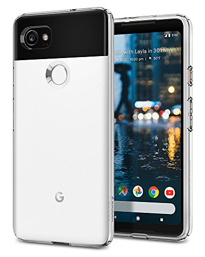 Spigen Funda Compatible con Google Pixel 2 XL, [Liquid Crystal] Protección Delgada de Gel Silicona y claridad Premium de TPU - [Trasparente]