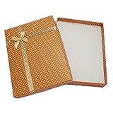 LYR Pandahall 6pcs Cajas de cartón de la joyería para Collar Pendientes Pendientes Regalos Embalaje, Satén Cinta Esponja Rectángulo Caja Regalo F95-Peru 16x12x3cm