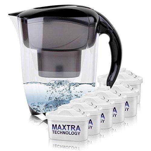 BRITA Elemaris XL 3,5L Wasserfilter schwarz inkl. 6x Maxtra Kartusche