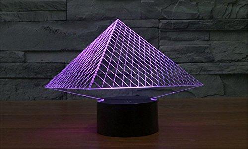 SmartEra® 7 Farben ändern 3D optische Täuschung USB Powered ägyptischen Pyramiden touch-Tasten Stimmungs Lampen Beleuchtung Gadget Schreibtischlampe
