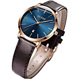 Ladies Watch Thin Minimalist Girls Female Wristwatch Small Face Leather Fashion Dress Watches for Women Bracelet Set Valentines Day Gifts