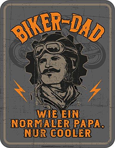 RAHMENLOS Original Blechschild für den Biker-Papa: Biker Dad, wie EIN normaler Papa, nur Cooler