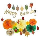 EASY JOY Geburtstag Dekoration Herbst Blätter Girlanden Party Deko Orange
